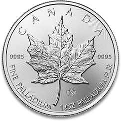 canadian palladium maple leaf