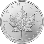 1 oz Palladium Canadian Maple Leaf Coin