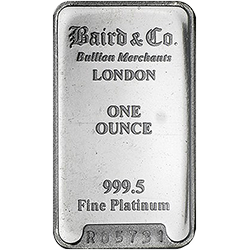baird platinum bar gold ira company